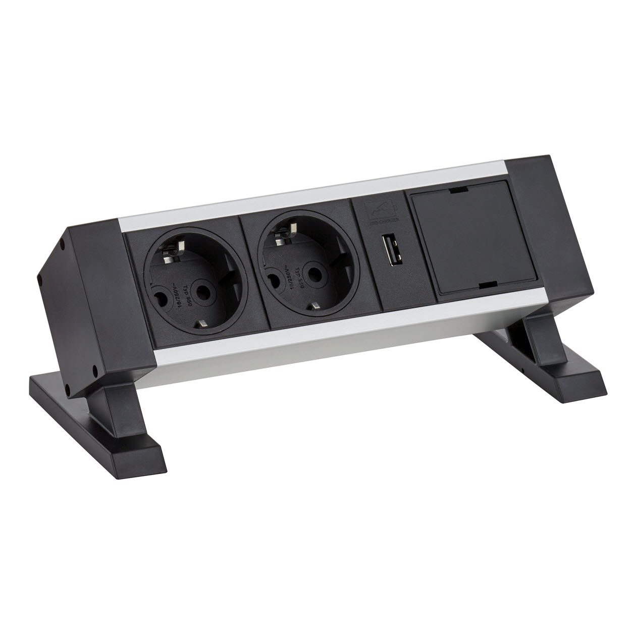 EVOline Dock Square -  2x power socket - 1x USB charger - Exchangeable Module - EVOlineStore